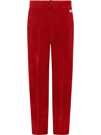 Gucci Red Trouser For Kids With Logo