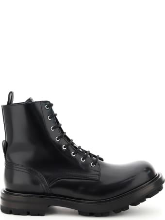 Alexander McQueen Worker Leather Boots