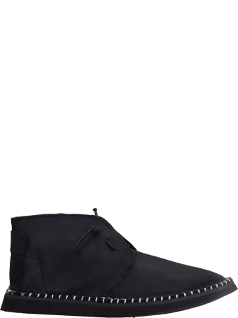Bruno Bordese Flavor Lace Up Shoes In Black Nubuck