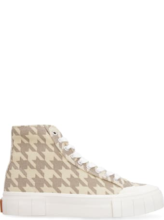 Good News Palm Dogstooth Canvas High-top Sneakers
