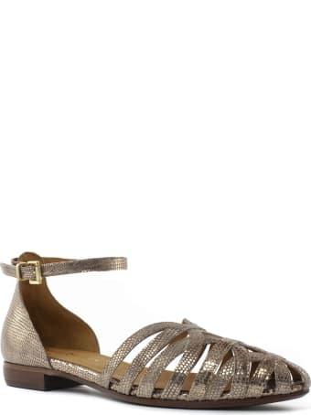 Duccio del Duca Metallic Cinnamon Leather Sandal
