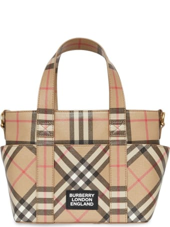 Burberry Daphine Crossbody Bag In Vintage Check Fabric