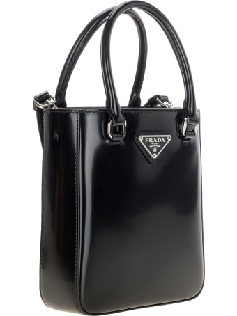 Prada Small Brushed Leather Tote