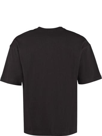Champion Logo Embroidery Cotton T-shirt