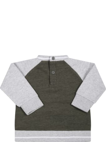 Timberland Mulricolor Sweatshirt For Boy With Green Logo