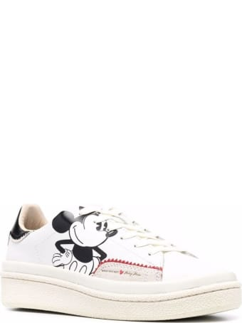 M.O.A. master of arts White Leather Mickey Mouse Sneakers