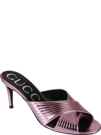 Gucci Metallic Finish Sandals