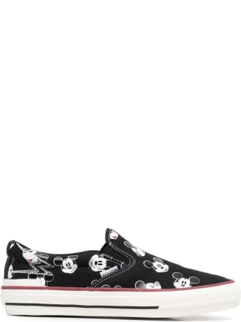 M.O.A. master of arts Fabric Sneakers With Mickey Mouse Print