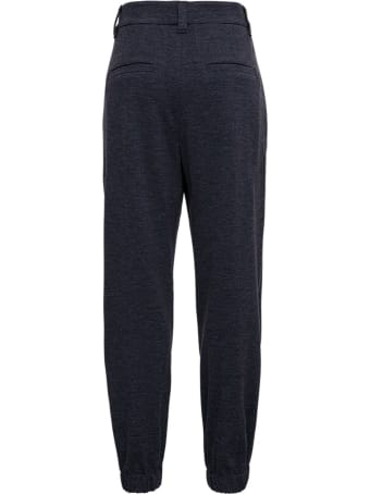 Brunello Cucinelli Blue Wool Blend Pants
