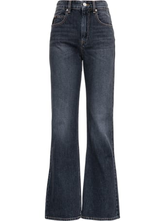 Isabel Marant Étoile Belvira Jeans In Grey Denim