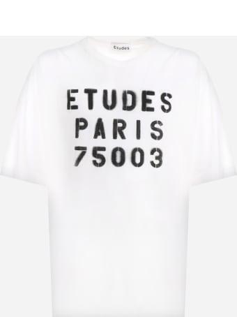 Études Cotton T-shirt With Logo Print