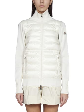 Moncler Quilted Nylon And Wool Padded Cardigan
