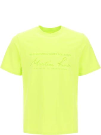 Martine Rose Logo Print Neon T-shirt
