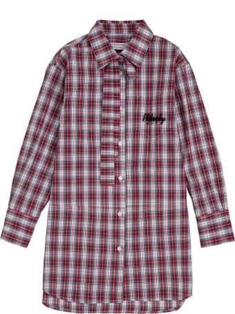 Philosophy di Lorenzo Serafini Kids Check Cotton Dress With Logo