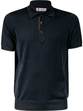 Brunello Cucinelli Classic Buttoned Polo Shirt