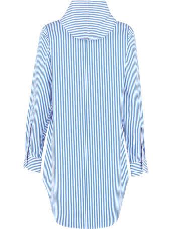 Plan C Hooded Striped Cotton Shirt