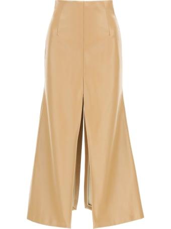 A.W.A.K.E. Mode Faux Leather Skirt