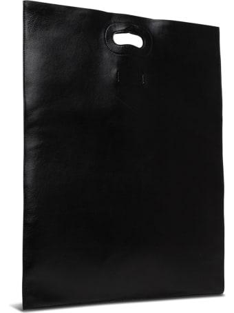 Trussardi Nuwev Black Shopper Bag