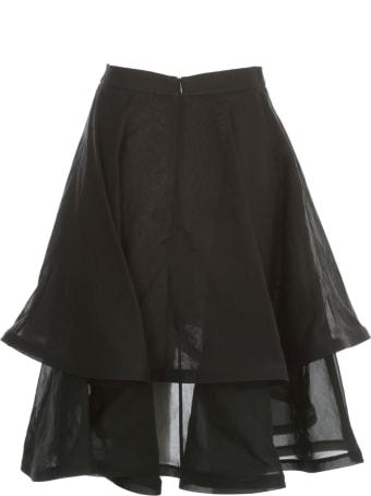Vìen Front Slit Double Skirt