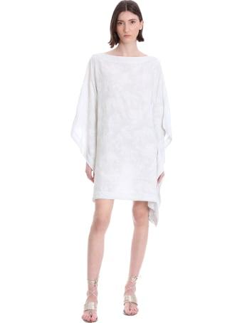 120% Lino Dress In White Linen