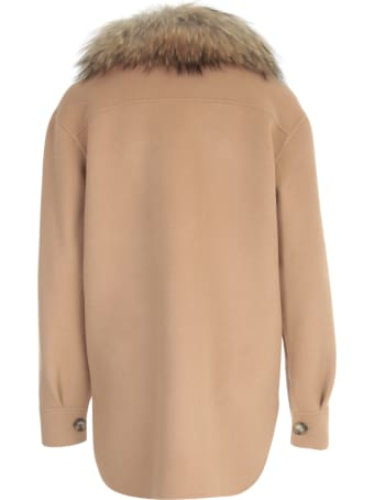 Ava Adore Double Faced Wool Jacket Shirt W/murmasky Collar