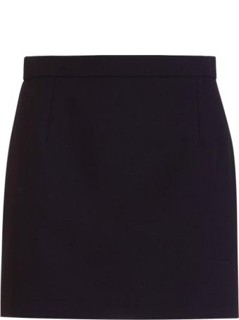 Saint Laurent Gabardine Mini Skirt