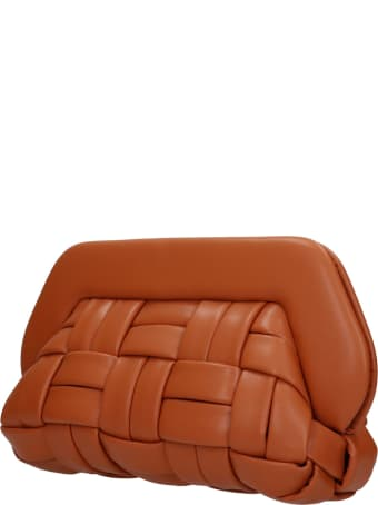 THEMOIRè Bios Weaved Clutch In Leather Color Faux Leather