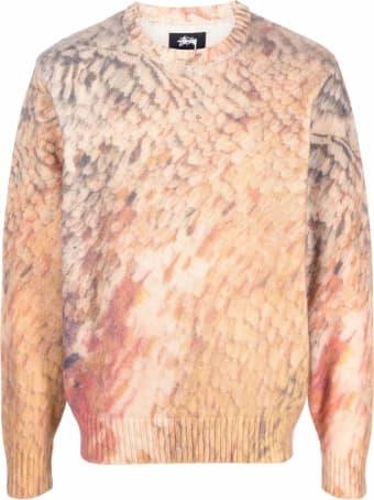 Stussy Beige Wool Mohair Jumper