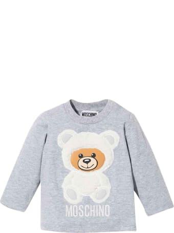 Moschino Newborn Gray Sweatshirt
