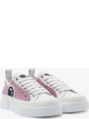 Dolce & Gabbana Portofino Light Sneakers In Canvas