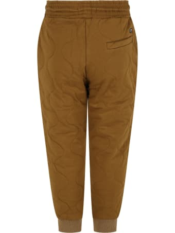 Scotch & Soda Green Sweatpants For Kids With Logo