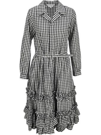 Comme Des Garçons Girl Check Ruffle Shift Dress