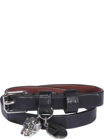 Alexander McQueen Double Wrap Skull Bracelet