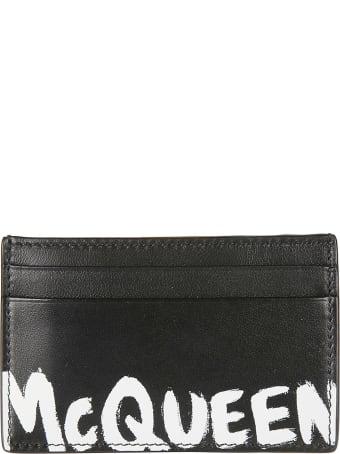 Alexander McQueen Logo Painted Card Holder