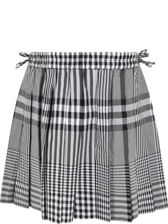 Burberry Multicolor Skirt For Girl With Iconic Check