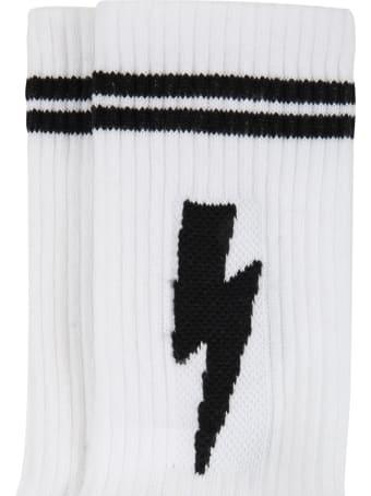 Neil Barrett White Socks For Kids