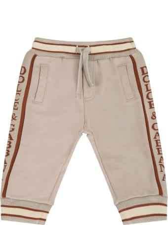Dolce & Gabbana Beige Sweatpant For Babykids With Fox