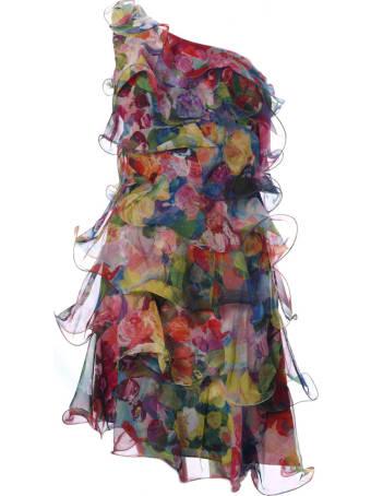 Marchesa Ruffle Detail Short Dress