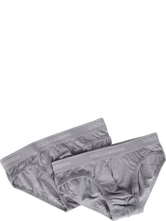 Dolce & Gabbana Grey Cotton Briefs