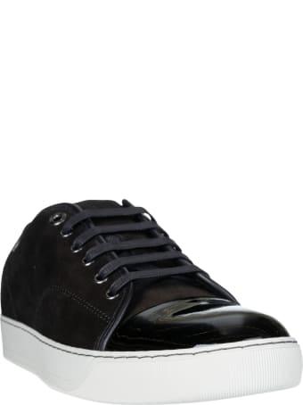 Lanvin Patent Captoe Low Top Sneakers