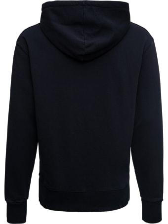 Maison Kitsuné Black Cotton Hoodie With Logo Patch