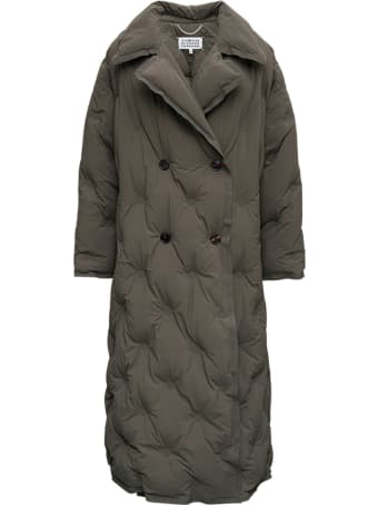 Maison Margiela Green Quilted Long Down Jacket