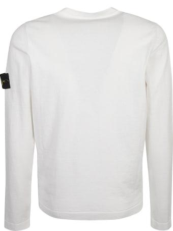 Stone Island Ribbed Logo Patched Sweatshirt