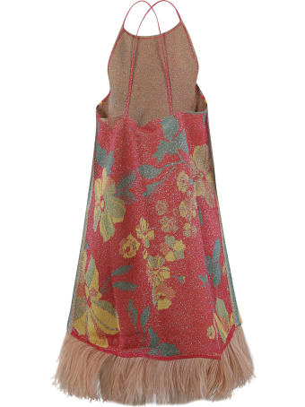 Circus Hotel Floral Print Fringed Hem Short Dress