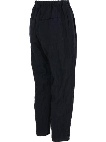 A Punto B Apuntob Blue Wool Cropped Pants