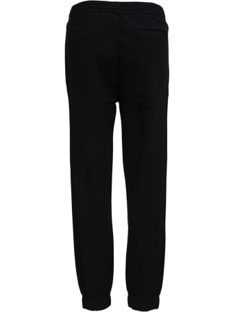 Givenchy Black Cotton Joggers With Logo Print