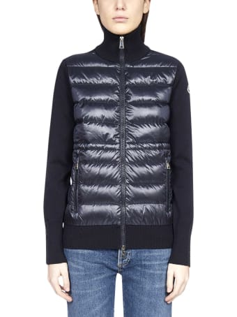 Moncler Padded Nylon And Wool Cardigan