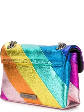 Kurt Geiger Kensington Crossbody Bag In Multicolor Striped Leather