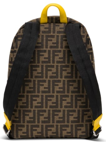 Fendi Junior Backpack In Jacquard Fabric With Print