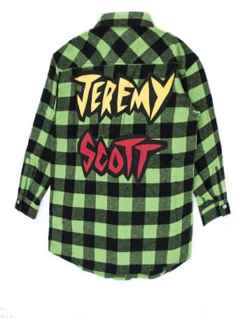 Jeremy Scott Black And Green Checked Shirt